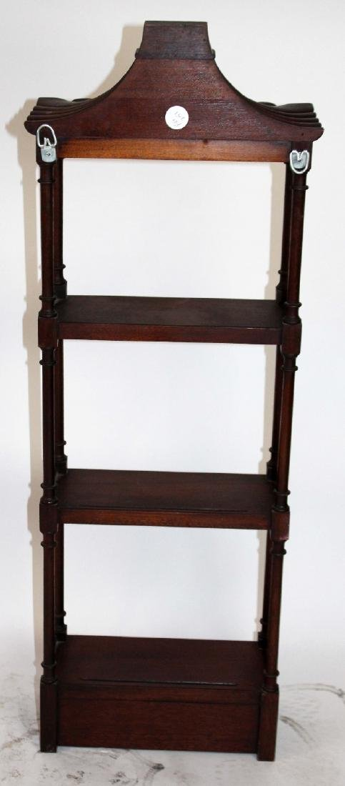 Chinese Chippendale mahogany wall shelf - 2