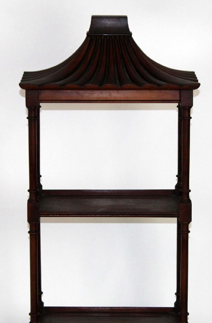 Chinese Chippendale mahogany wall shelf - 3