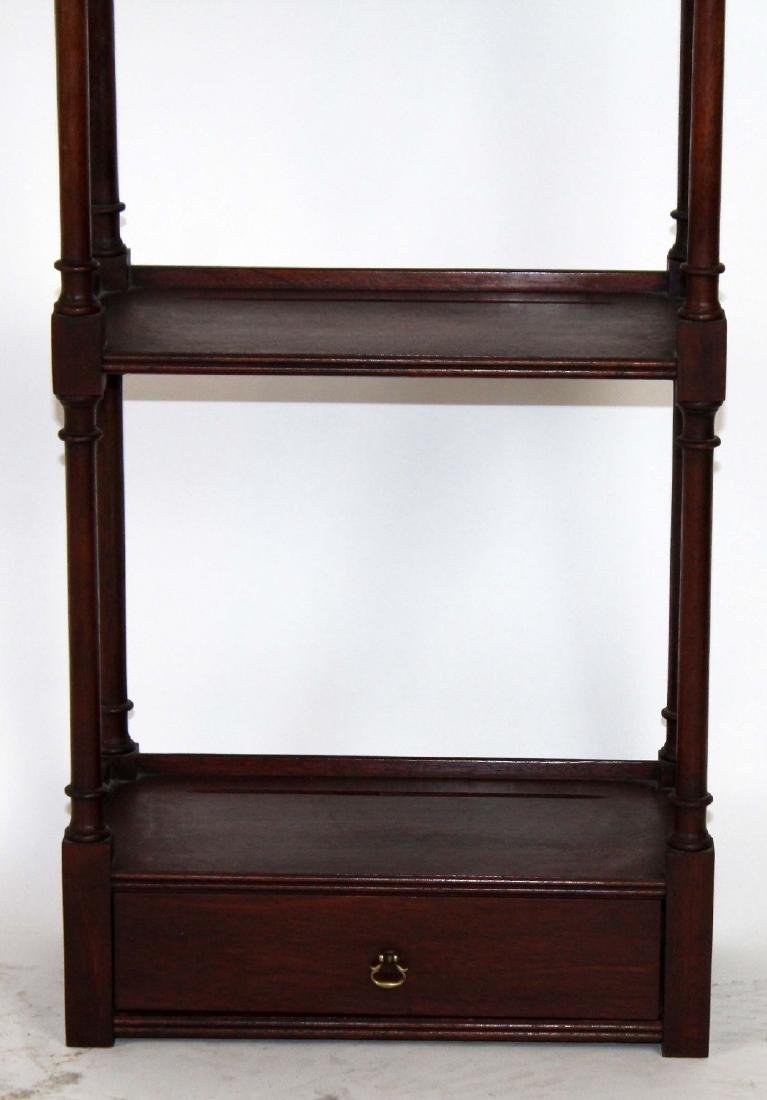 Chinese Chippendale mahogany wall shelf - 4