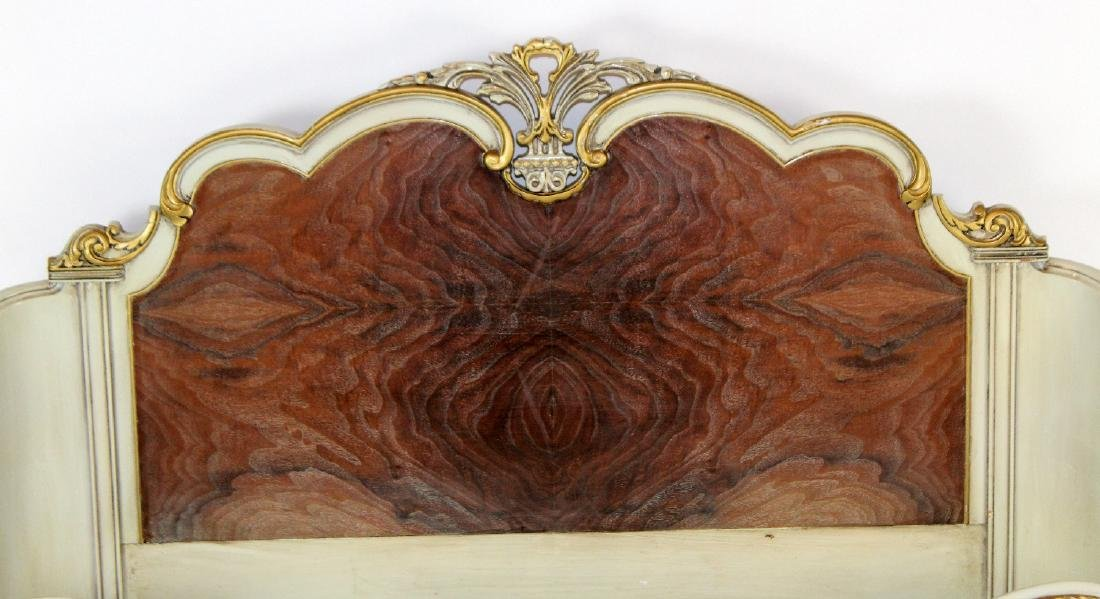 Louis XV style full size painted bed - 3