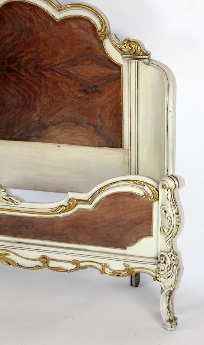 Louis XV style full size painted bed - 4