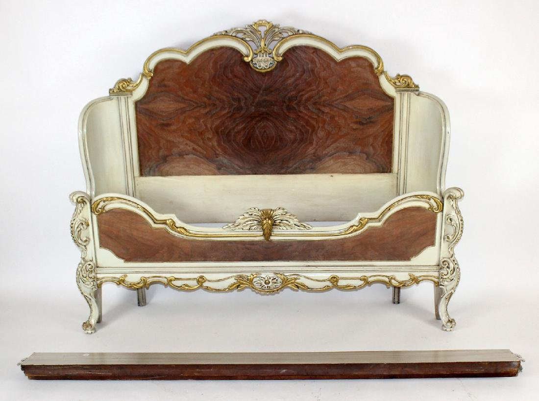 Louis XV style full size painted bed - 5