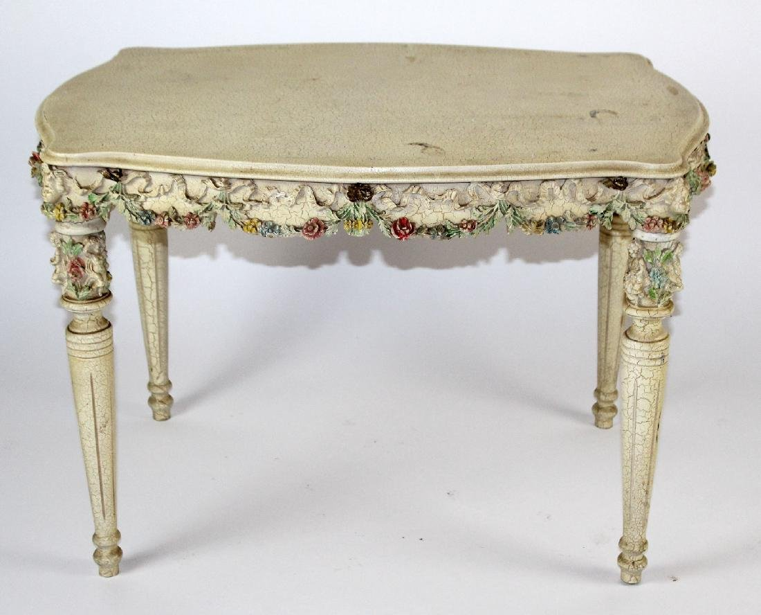 Painted Rococo style side table