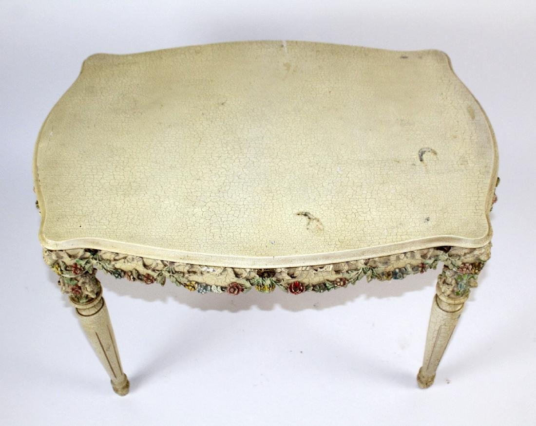 Painted Rococo style side table - 2