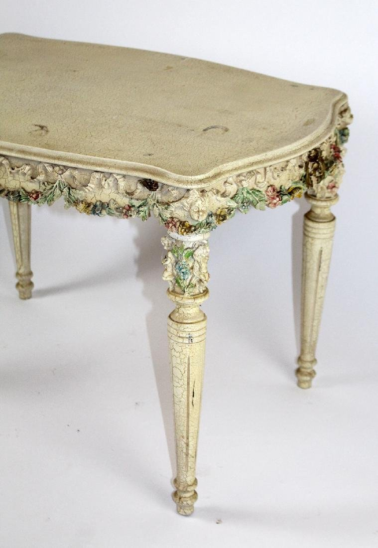 Painted Rococo style side table - 3