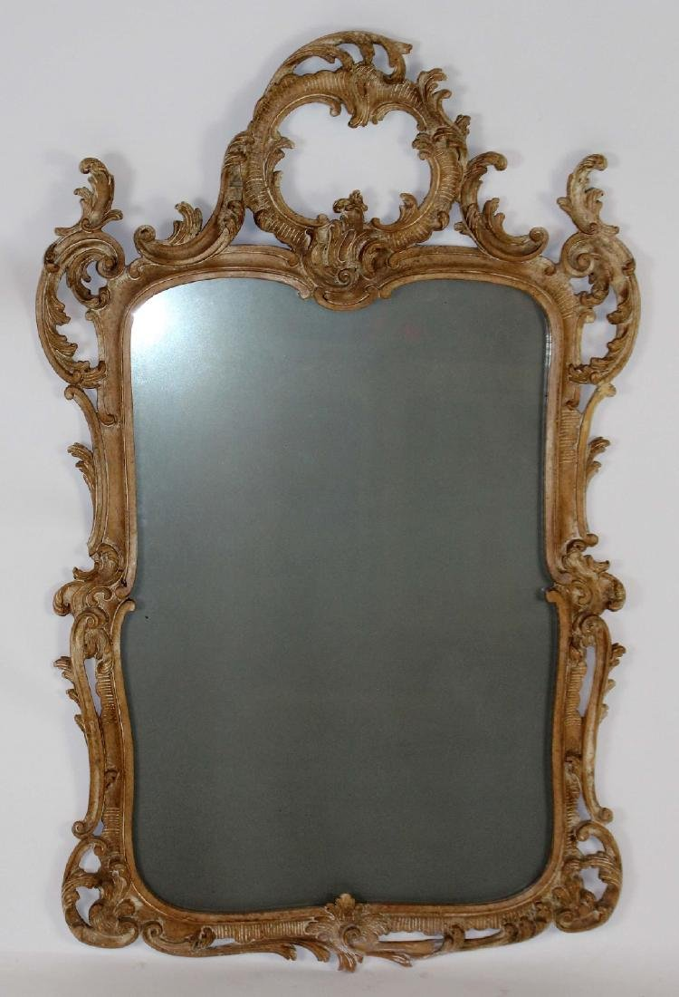 Italian Chippendale carved mirror