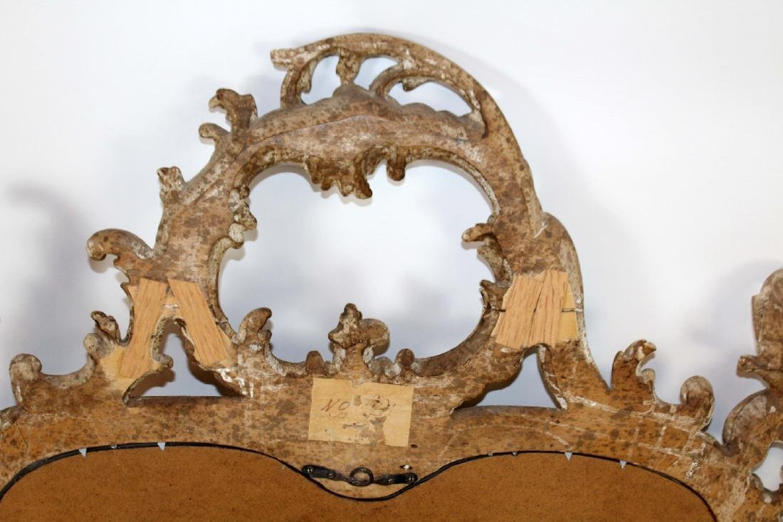 Italian Chippendale carved mirror - 2