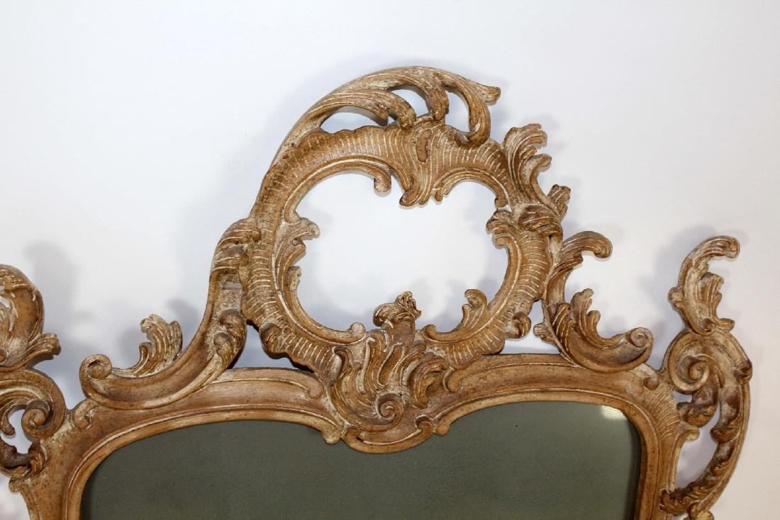 Italian Chippendale carved mirror - 3