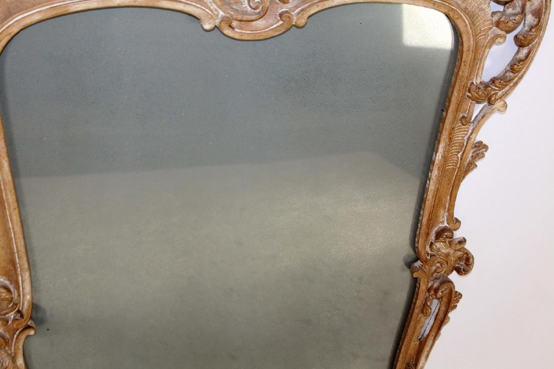 Italian Chippendale carved mirror - 4