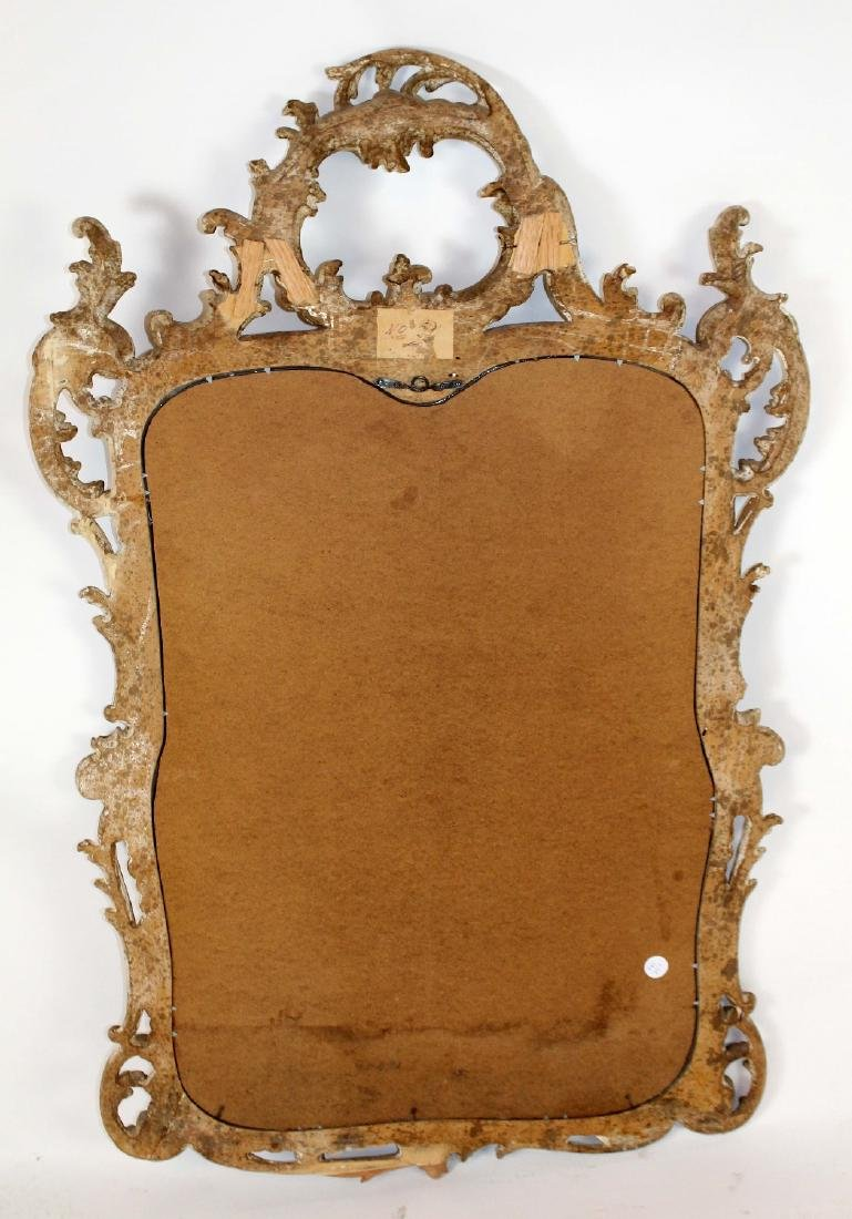 Italian Chippendale carved mirror - 5