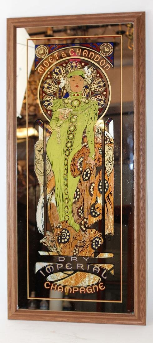Mucha designed Moet & Chandon mirror