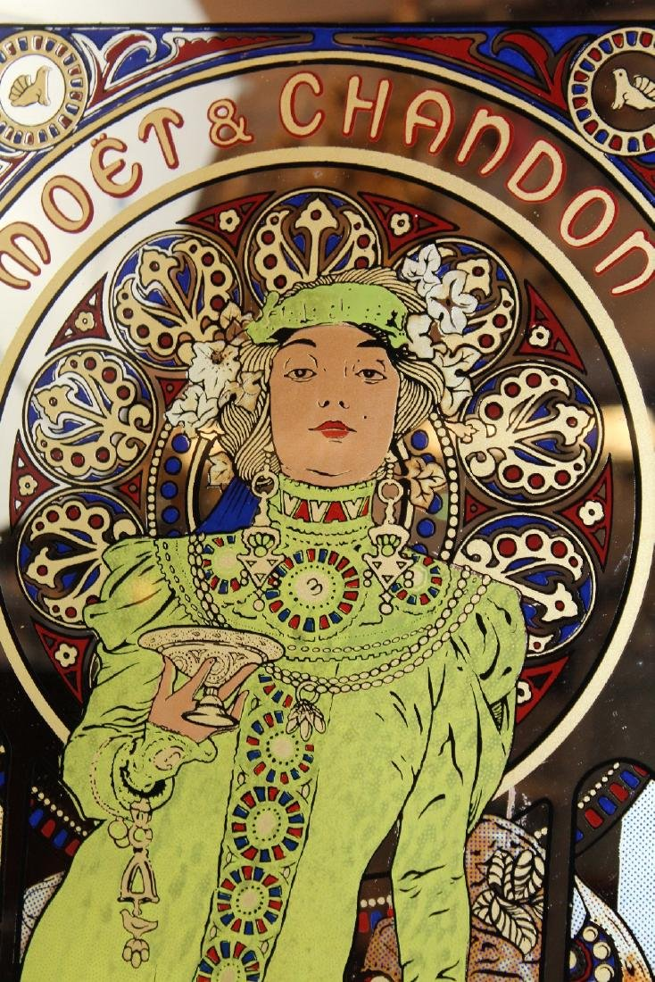 Mucha designed Moet & Chandon mirror - 2