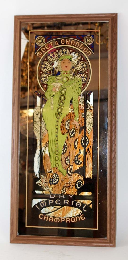 Mucha designed Moet & Chandon mirror - 3