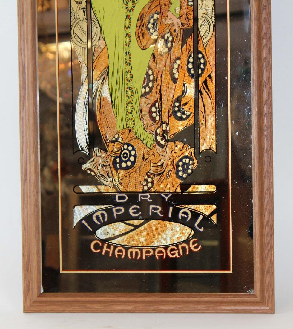 Mucha designed Moet & Chandon mirror - 5