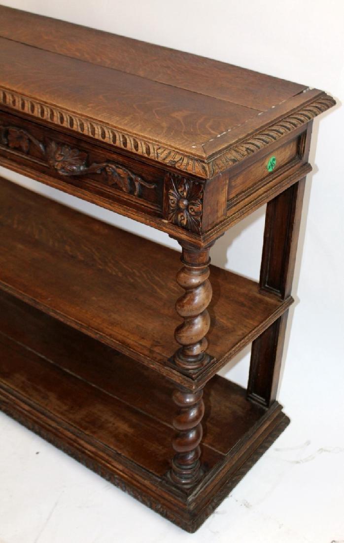 French Louis XIII 2-tier lifttop server in oak - 4