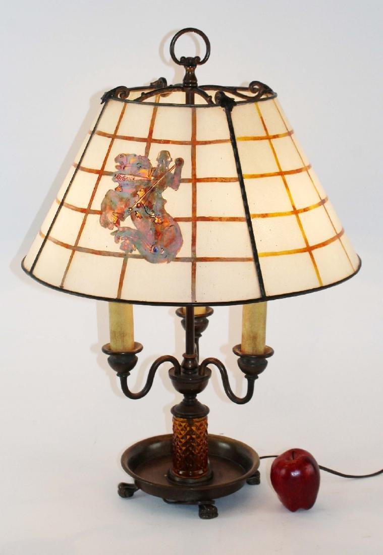 Handel slag glass table lamp - 2