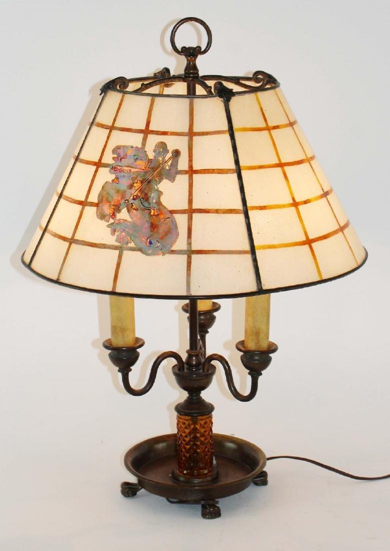 Handel slag glass table lamp - 3