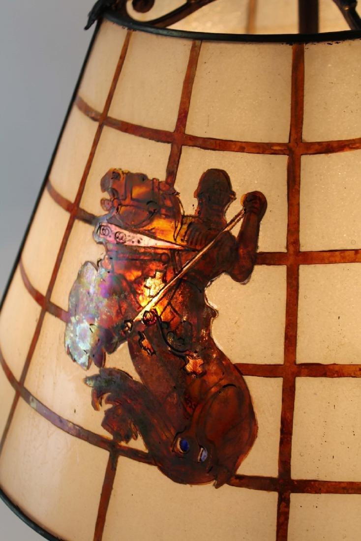 Handel slag glass table lamp - 4