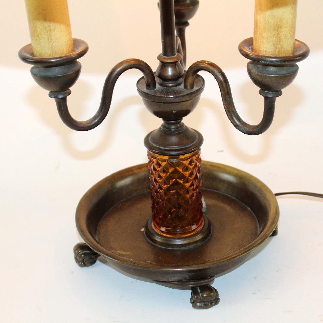 Handel slag glass table lamp - 6