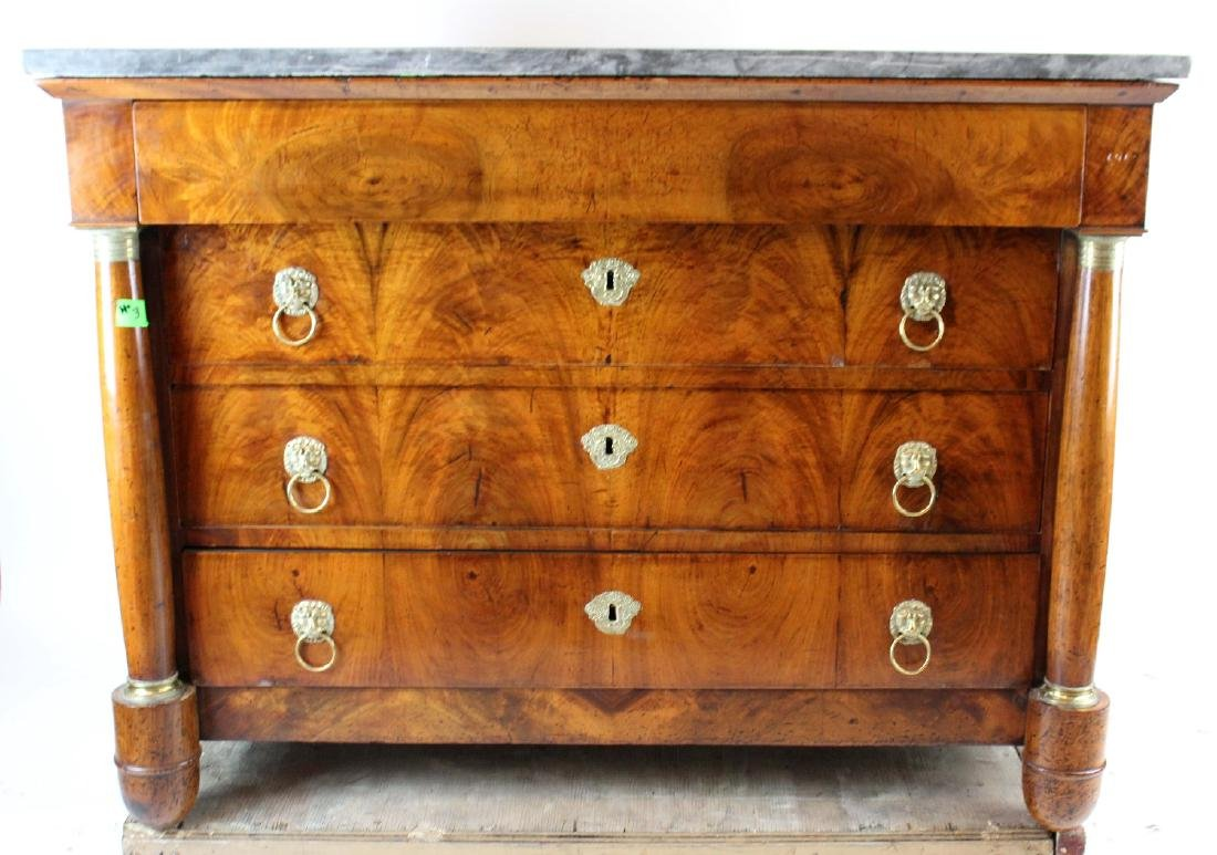 French Empire commode in walnut - 4