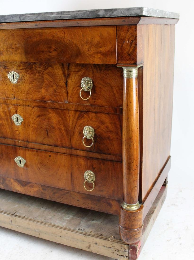 French Empire commode in walnut - 5