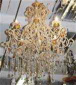 8 arm Venetian style chandelier
