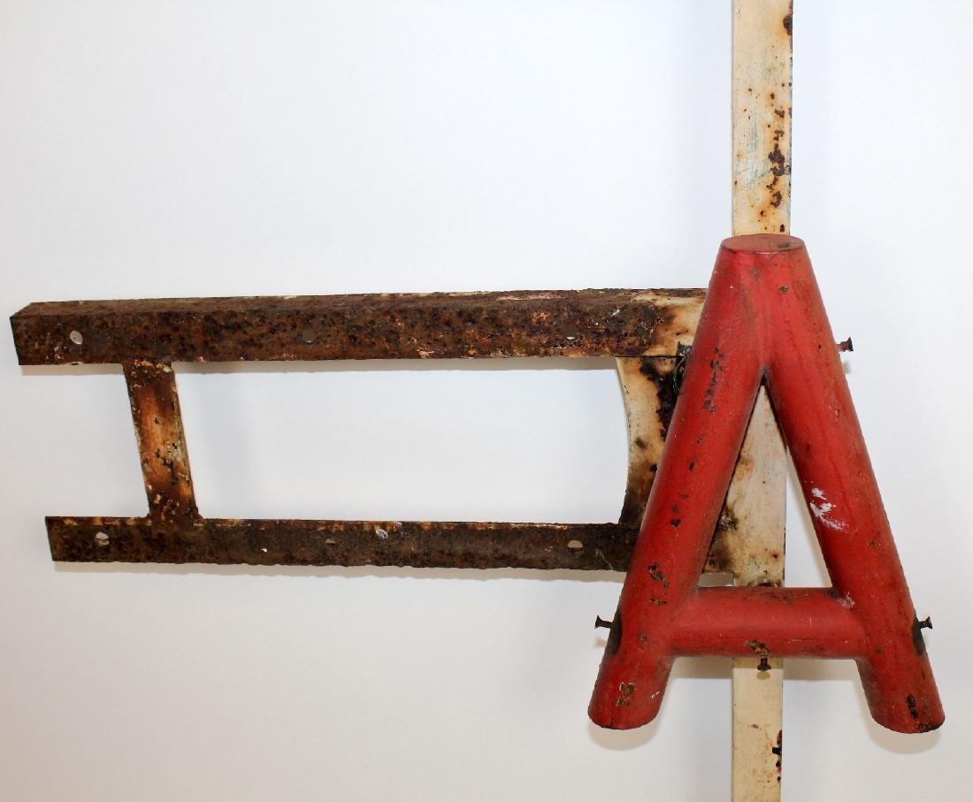 Vintage French painted metal BAR sign - 4
