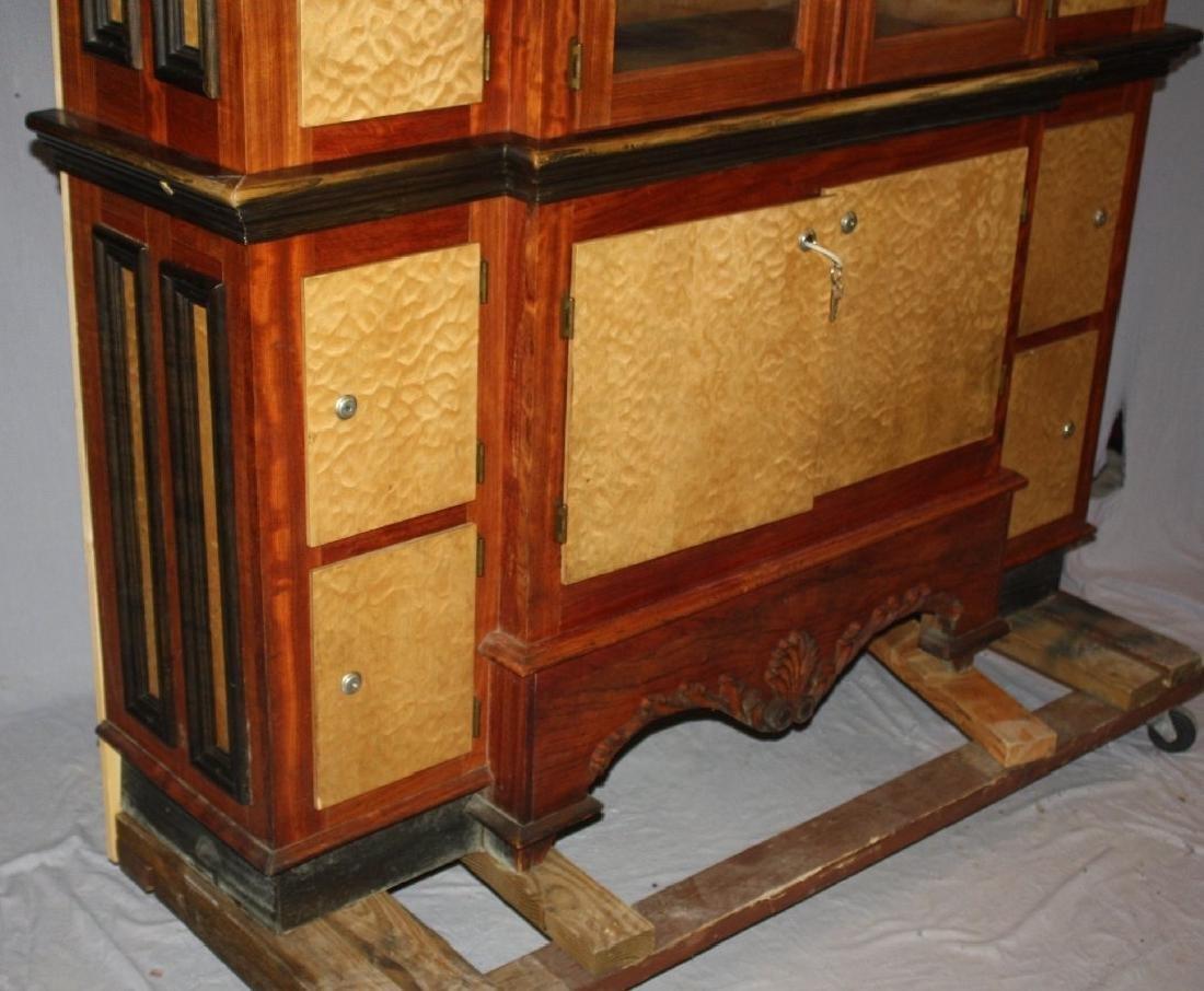 Custom made 14 door humidor cabinet with satinwood - 6