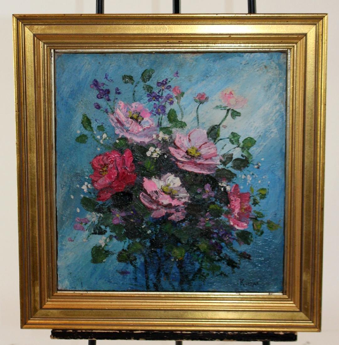 Max Kuehne (1880-1968) oil on canvas stillife