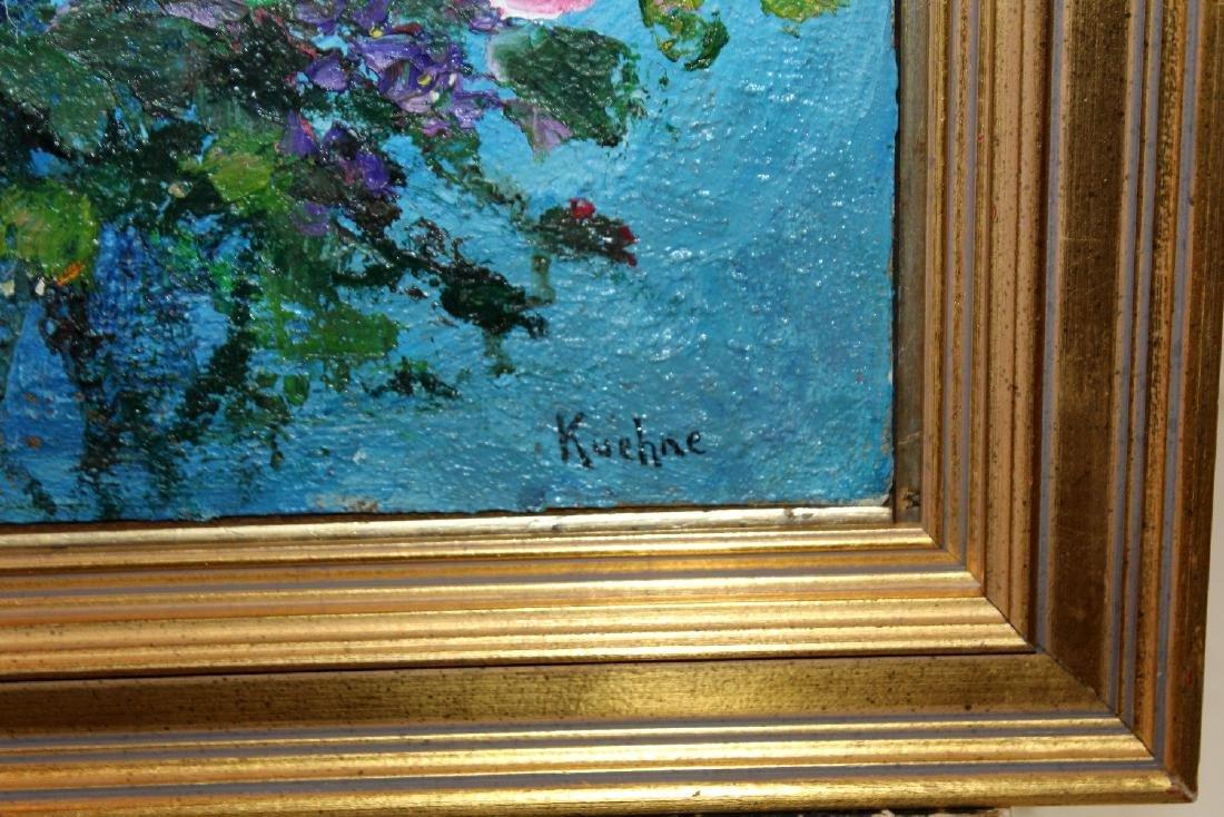 Max Kuehne (1880-1968) oil on canvas stillife - 4