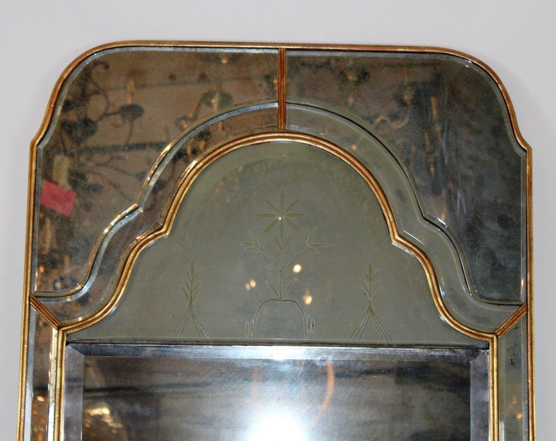 Pair of vintage Mirror Fair brass mirrors - 3