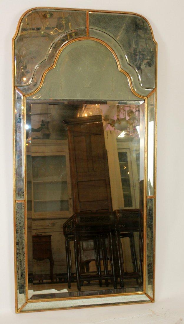 Pair of vintage Mirror Fair brass mirrors - 4