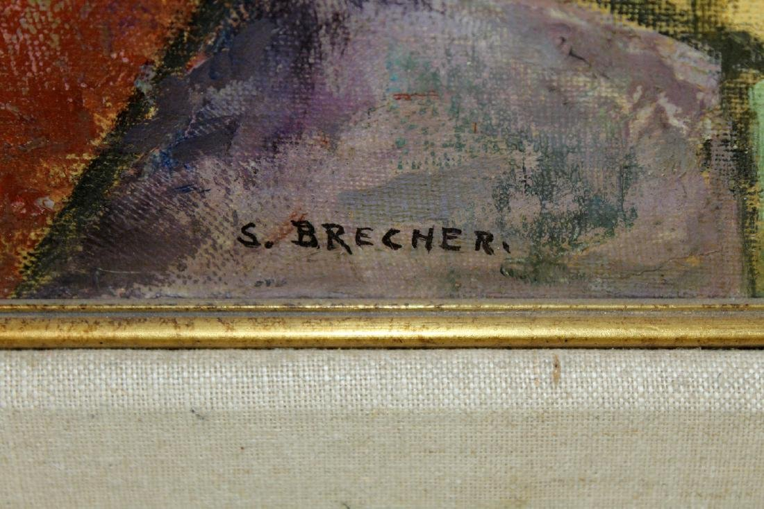 Samuel Brecher oil on canvas painting - 4