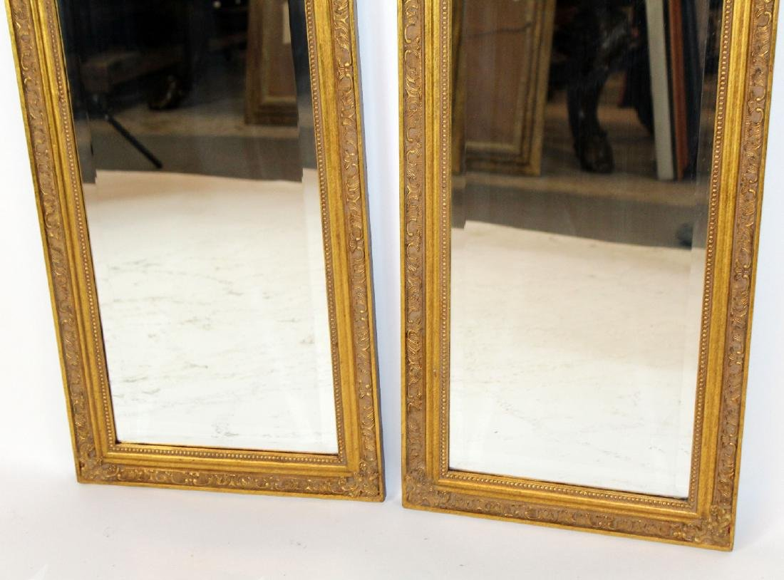 Pair of gold arch top mirrors - 4
