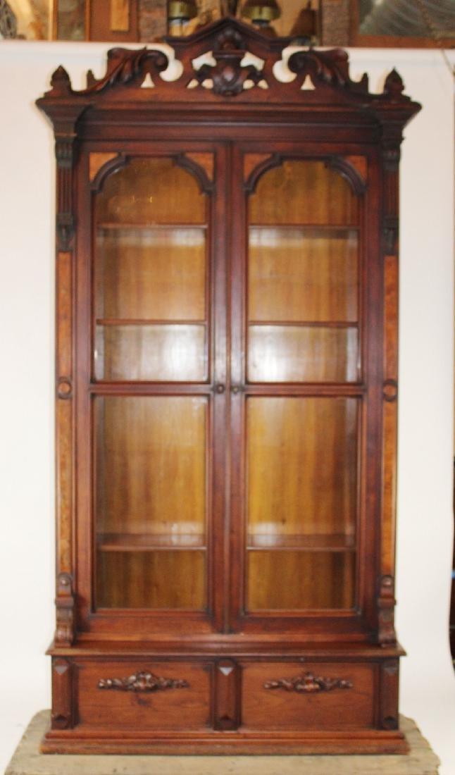 American Victorian 2 door bookcase