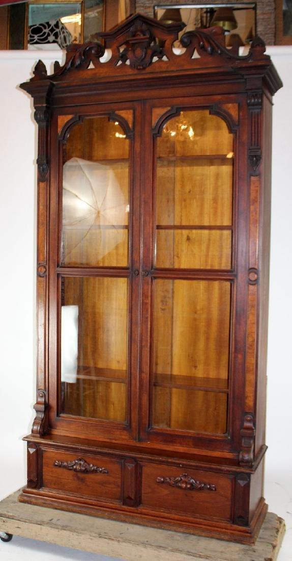 American Victorian 2 door bookcase - 4