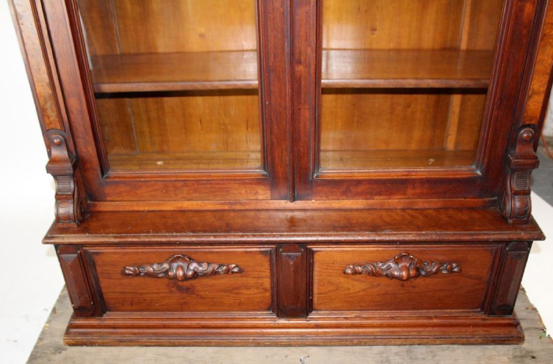 American Victorian 2 door bookcase - 6
