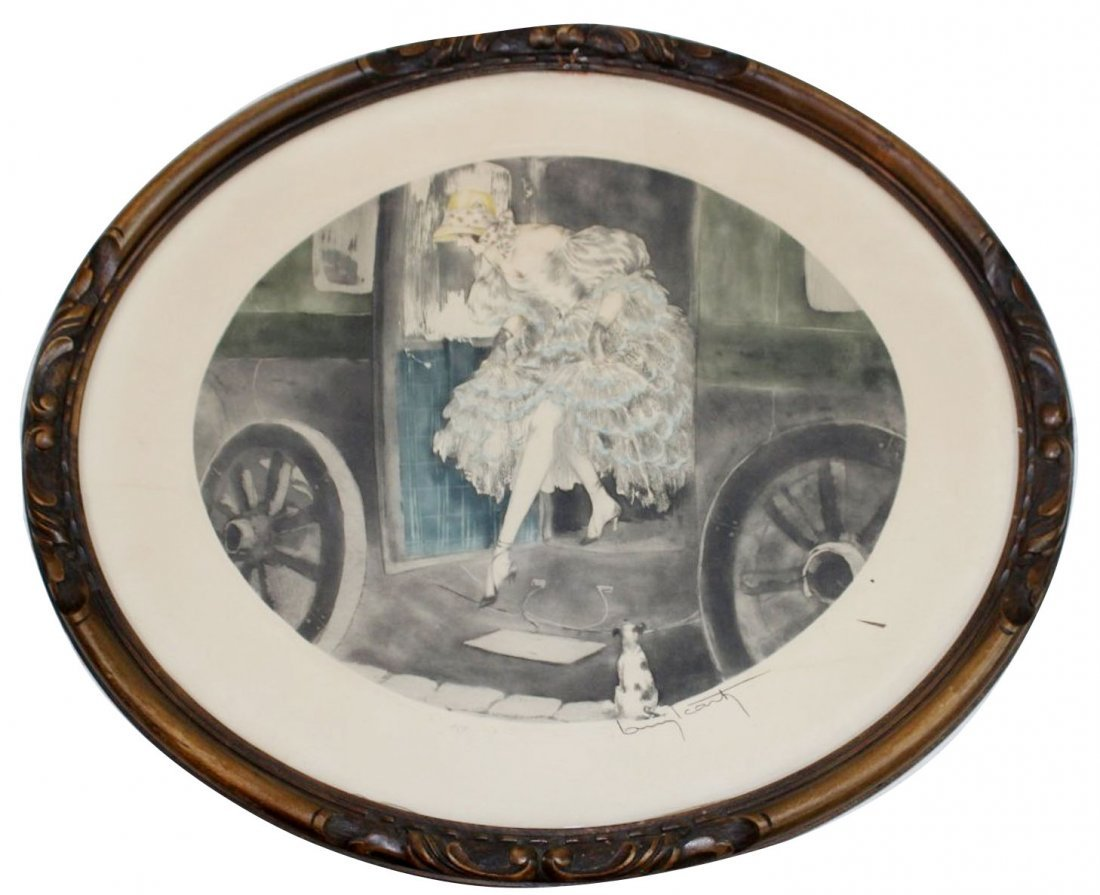 Louis Icart drypoint etching 1850