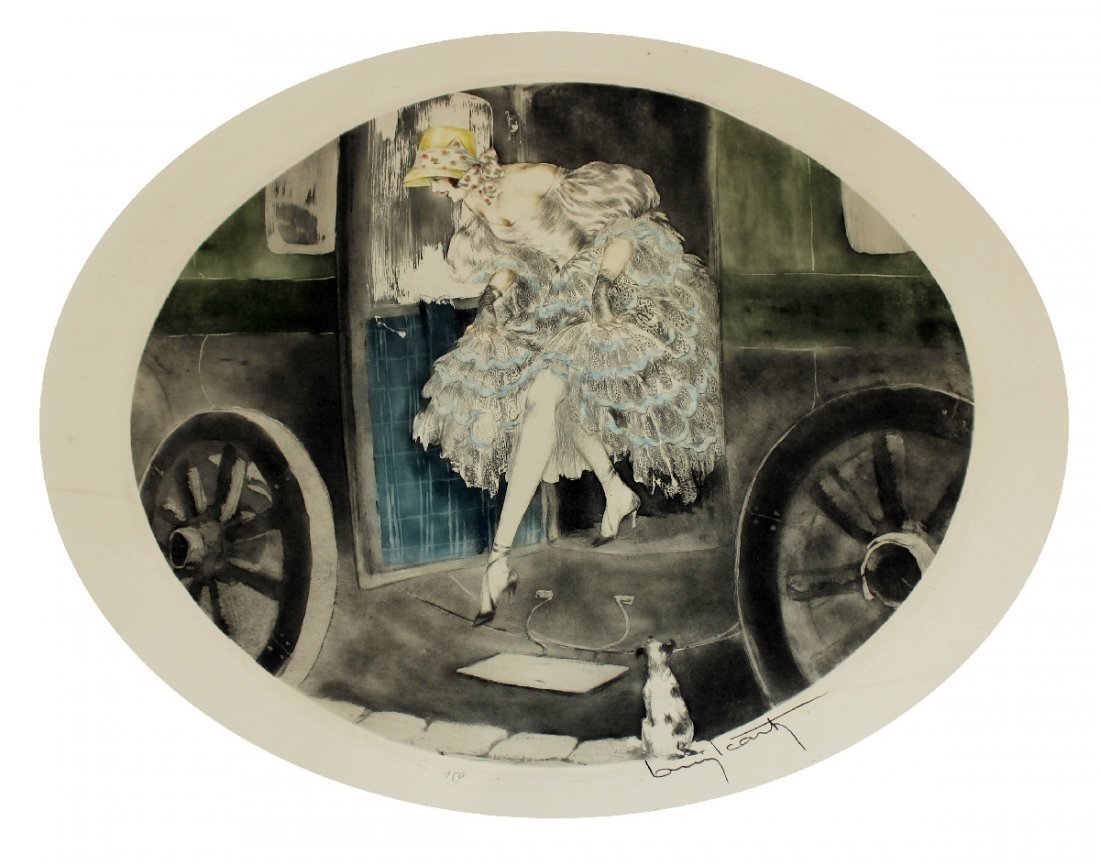 Louis Icart drypoint etching 1850 - 2