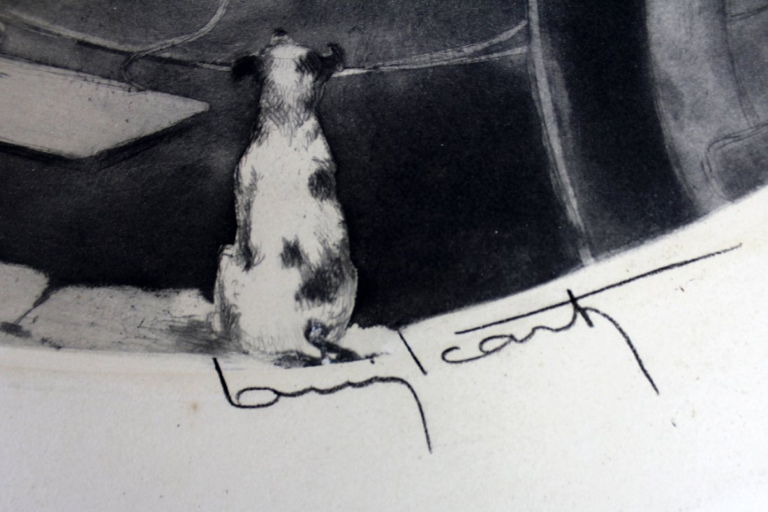 Louis Icart drypoint etching 1850 - 3