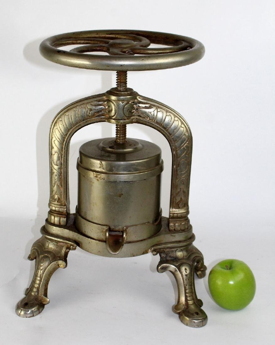 French nickel over cast iron duck press - 3