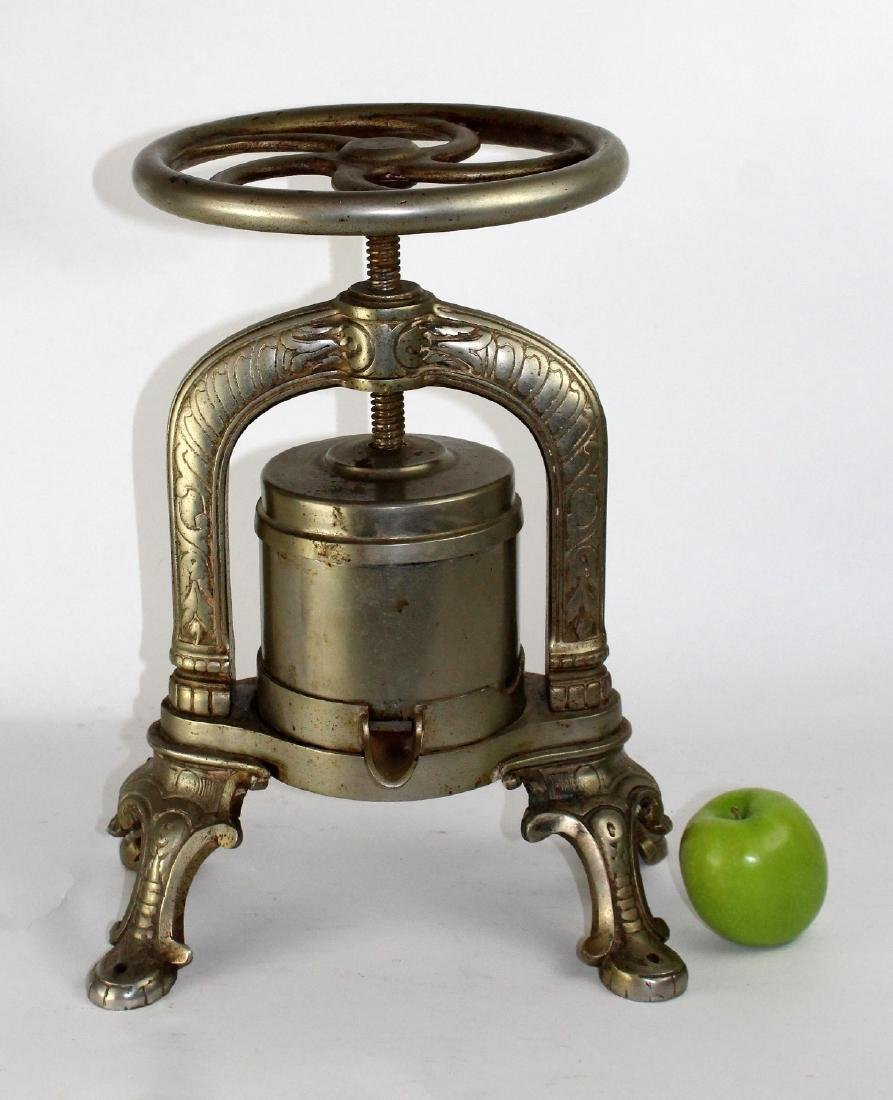 French nickel over cast iron duck press - 4