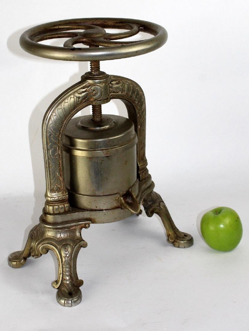 French nickel over cast iron duck press - 5