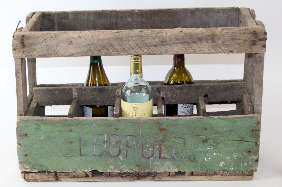 French wooden bottle crate - 2