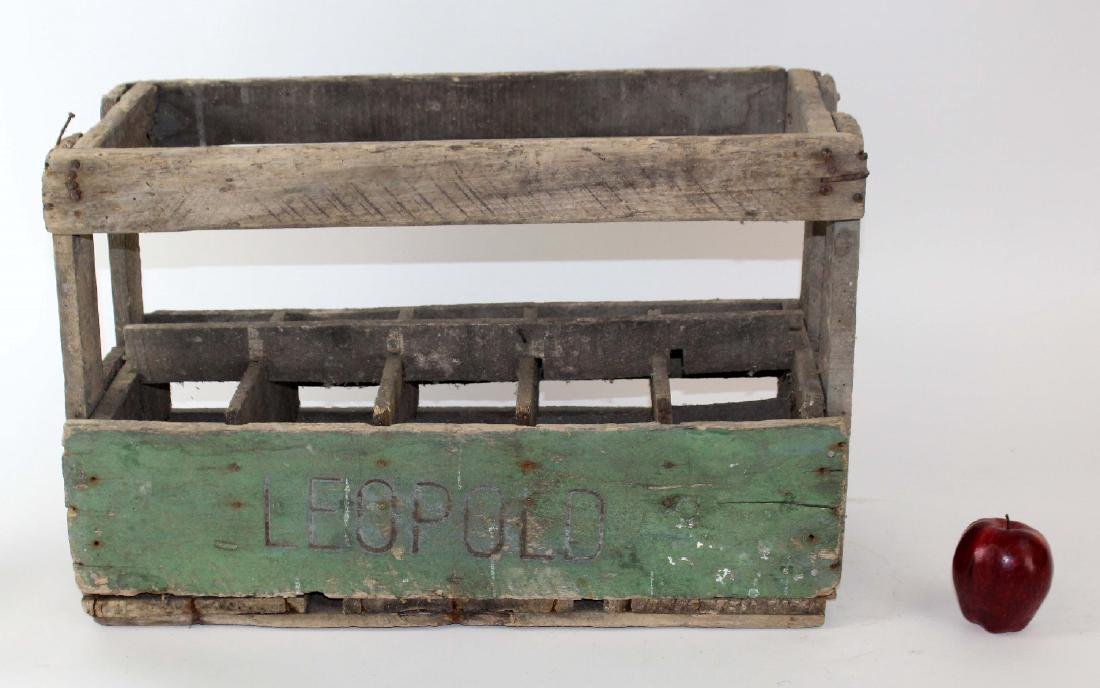 French wooden bottle crate - 3