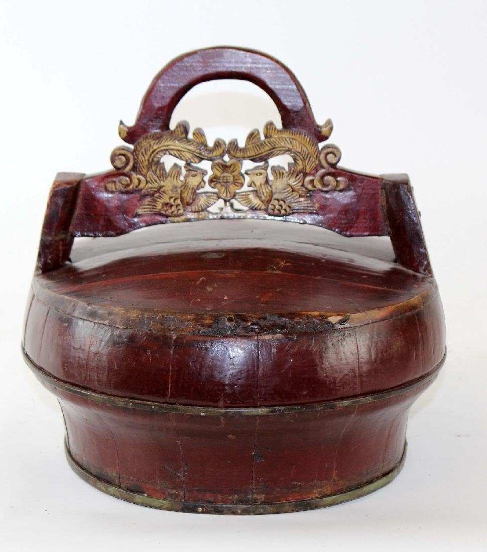 Chinese wooden water bucket