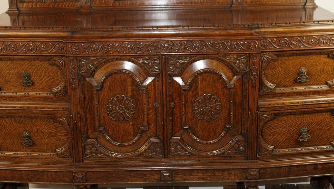 American oak carved sideboard - 3