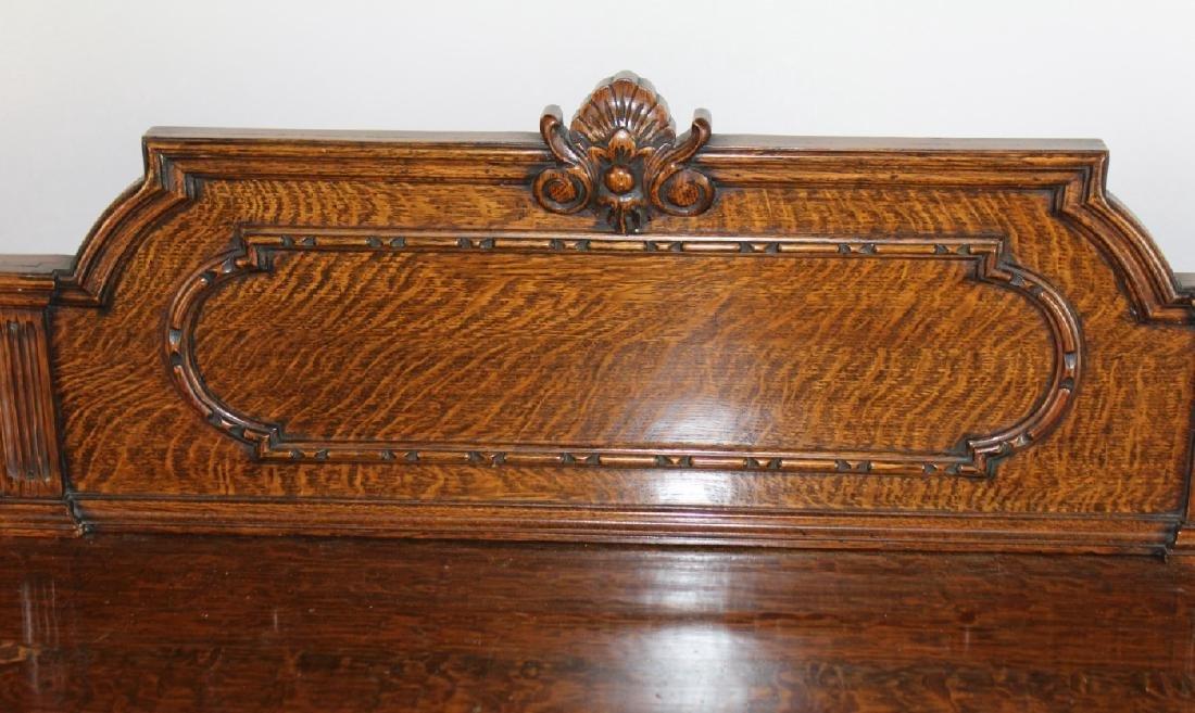 American oak carved sideboard - 4