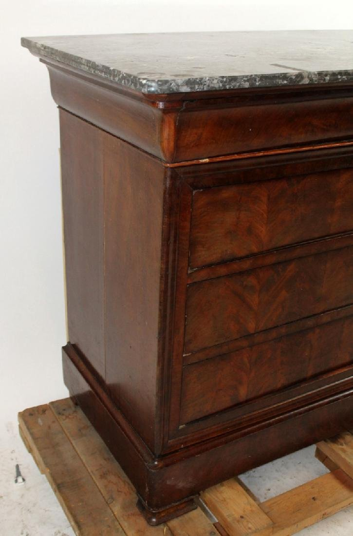 French Louis Philippe commode with marble top - 2