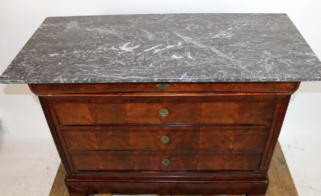 French Louis Philippe commode with marble top - 4